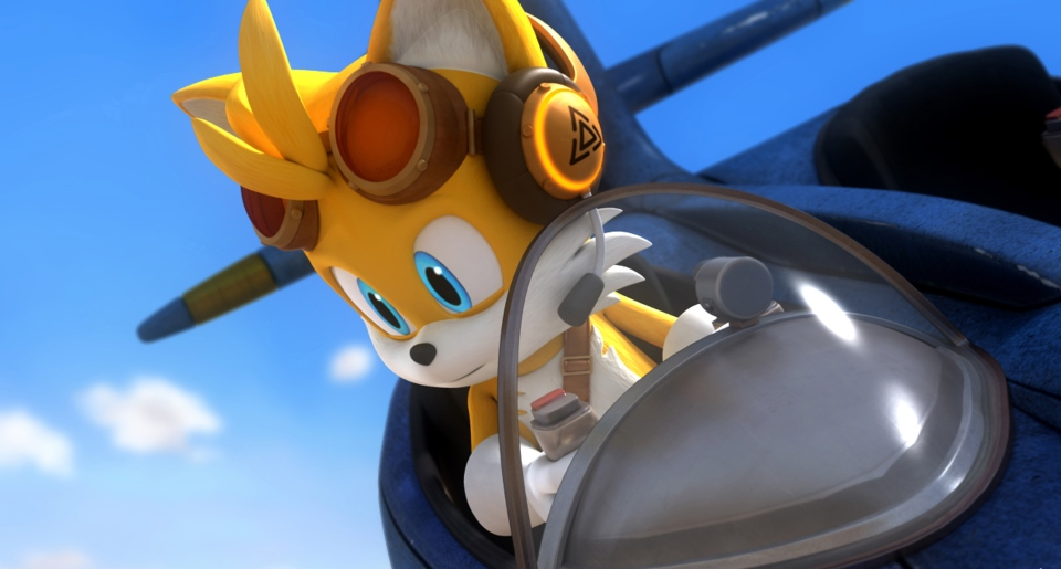 This photo provided by OuiDO Productions shows the character Tails in a scene from the TV series, 'Sonic Boom.'