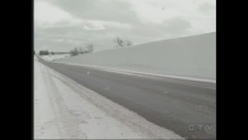 Bruce County snow bank