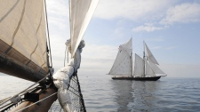 Bluenose II may flood and sink