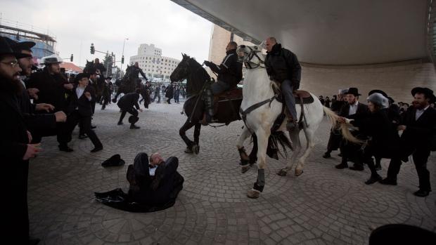 Ultra-Orthodox Jews clash with police