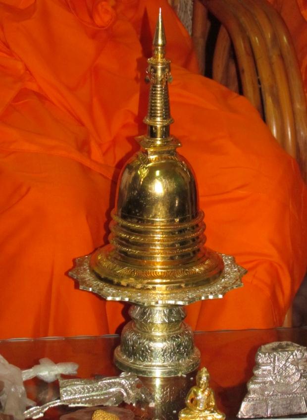 Stolen Buddha urn