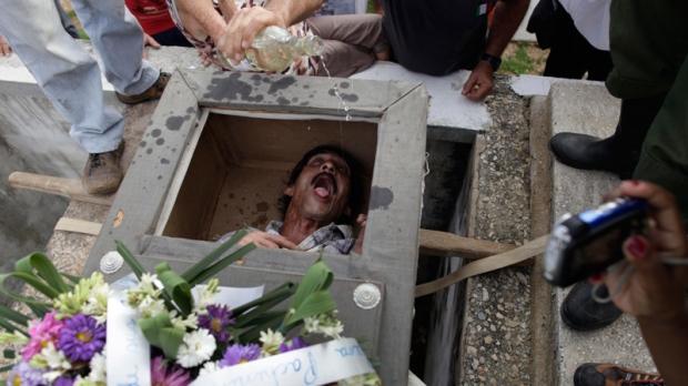 Burial of Pachencho in Santiago de Las Vegas