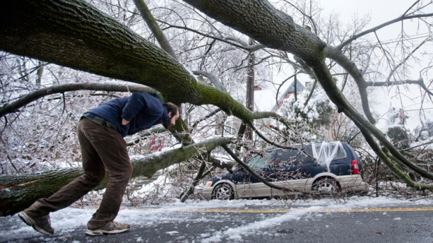 Storm damage in Philadelphia on Feb. 5, 2014