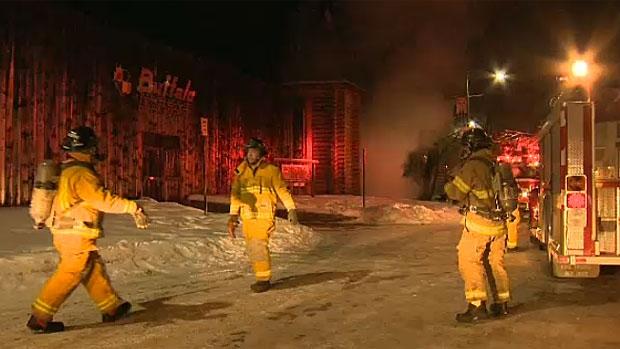Banff museum on fire