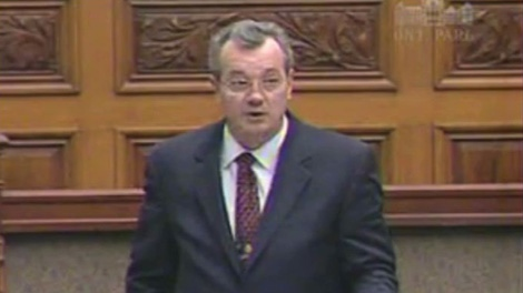 Tory Randy Hillier speaks in the provincial legislature in this file photo.