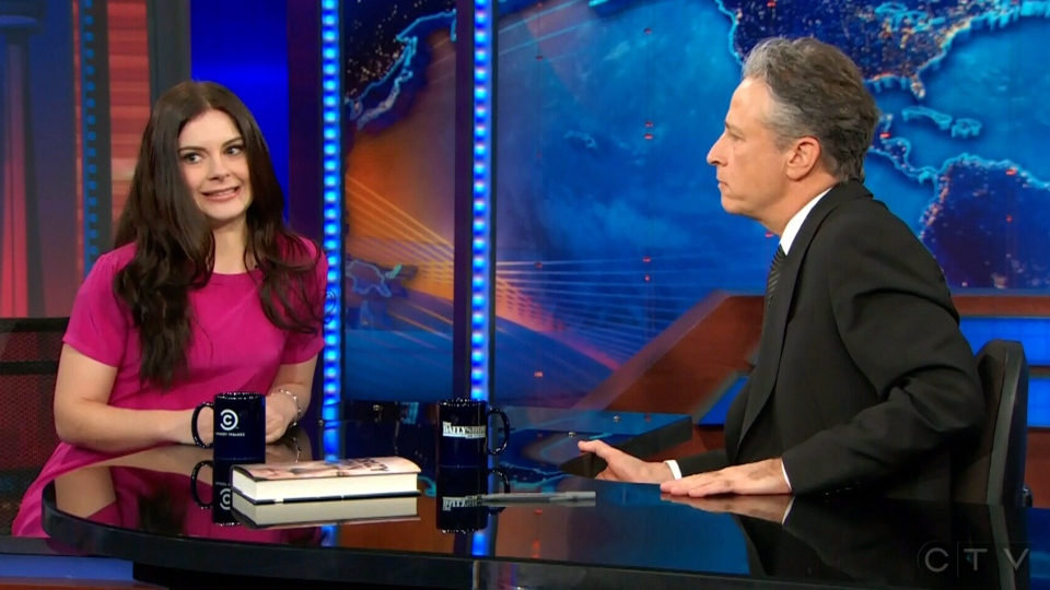 Robyn Doolittle appears on The Daily Show, Thursday, Feb. 6, 2014.