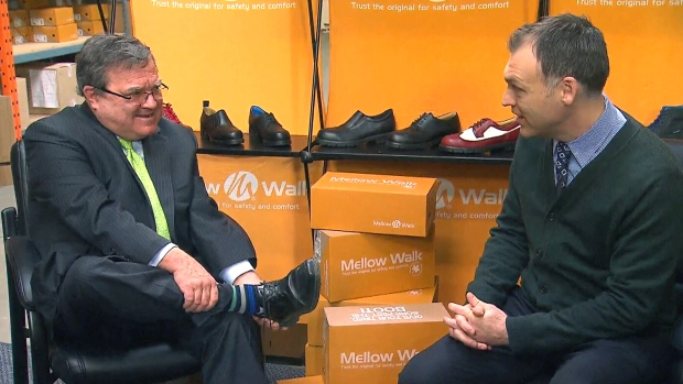 Jim Flaherty new shoes for budget