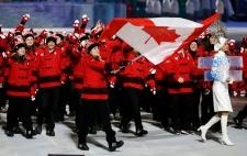 Team Canada opening ceremony
