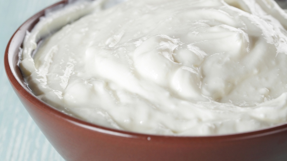 A bowl of yogurt. (Lilyana Vynogradova / Polyvore)