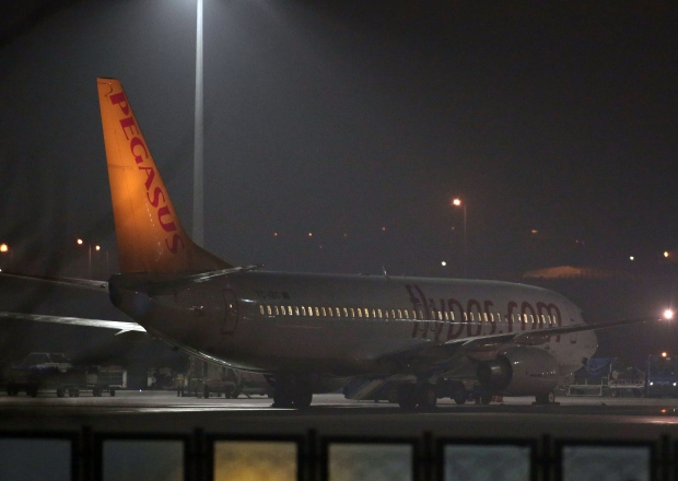 Plane after hijack attempt to Sochi