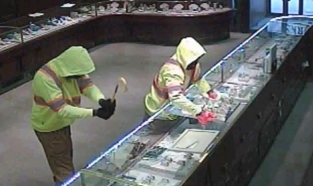 Saskatoon police released surveillance video from a robbery at Birks jewelry store Feb. 1, 2014.