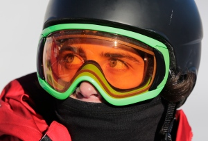 Mark McMorris at the Rosa Khutor Extreme Park, at the 2014 Winter Olympics in Krasnaya Polyana, Russia, on Feb. 8, 2014. (AP / Andy Wong)
