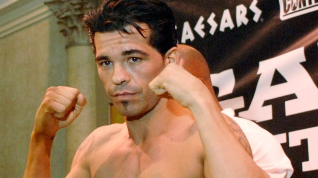 Arturo Gatti weighs in at 146 pounds in Atlantic City, N.J., for his his