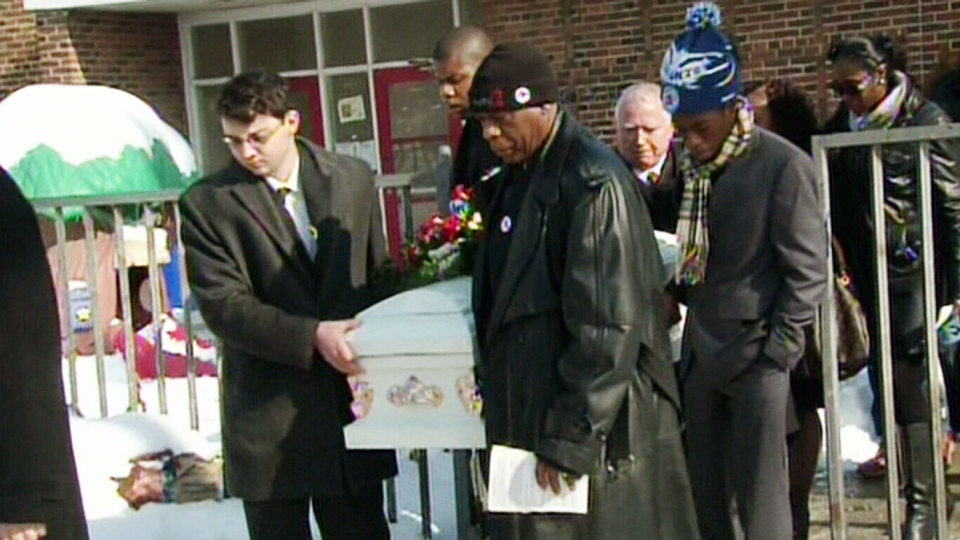 A funeral was held for Cameron Davis, killed in a scooter accident in Cuba, in Toronto on Saturday, Feb. 8, 2014.