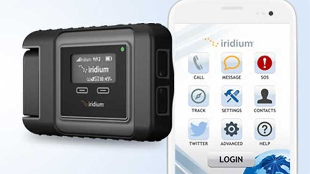 Iridium Go uses a satellite network