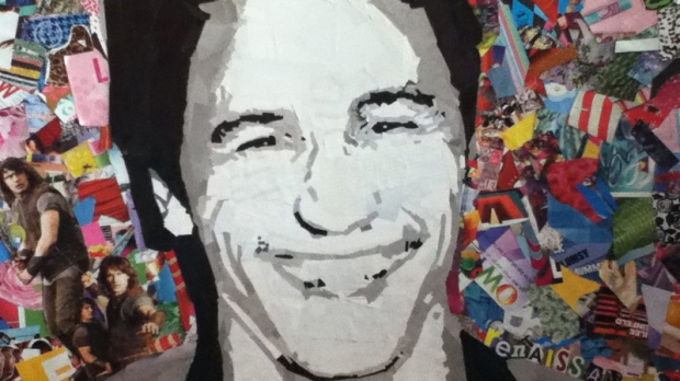 A likeness of actor James Franco is shown in artwork by 13-year-old Macy Armstrong. (HO-Macy Armstrong / THE CANADIAN PRESS)