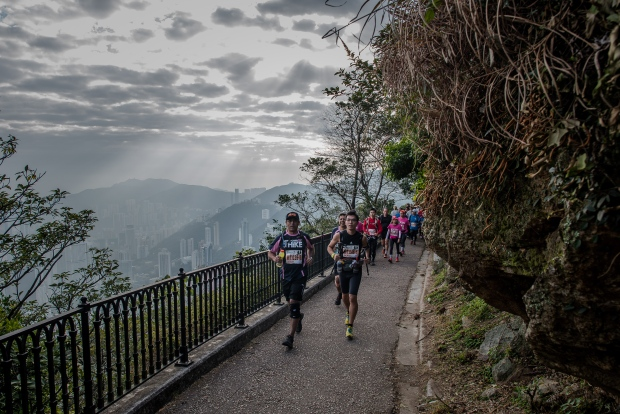 Trail runners in Hong Kong