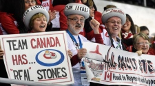 Cheering the Canadian curling team in Sochi