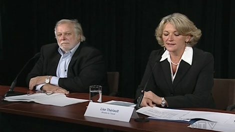Labour Minister Lise Theriault says legislation will likely be tabled in the fall to limit the power of unions to say how many and which workers are assigned to a particular construction site.