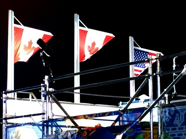 Sochi Canadian flags