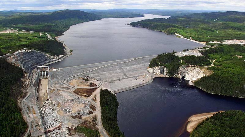 The Peribonka dam was built by Bauer (photo courtesy Hydro-Quebec)