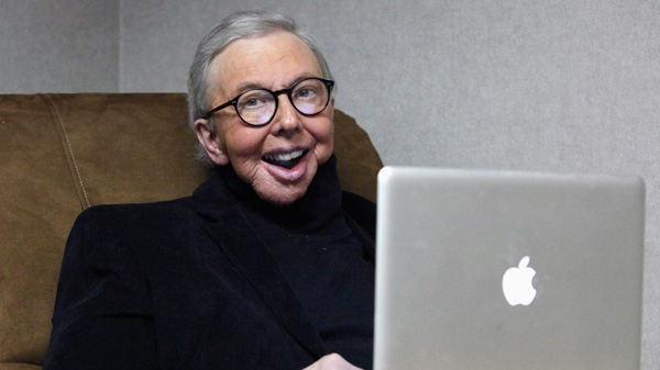 Pulitzer Prize-winning movie critic Roger Ebert works in his office at the WTTW-TV studios in Chicago, Wednesday, Jan. 12, 2011. (AP / Charles Rex Arbogast)