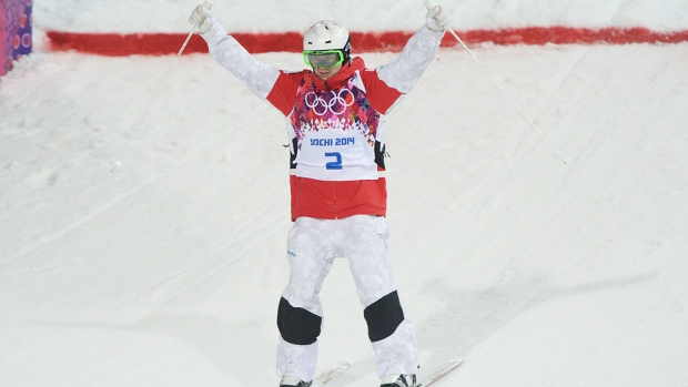 Mikael Kingsbury of Canada skis in Sochi