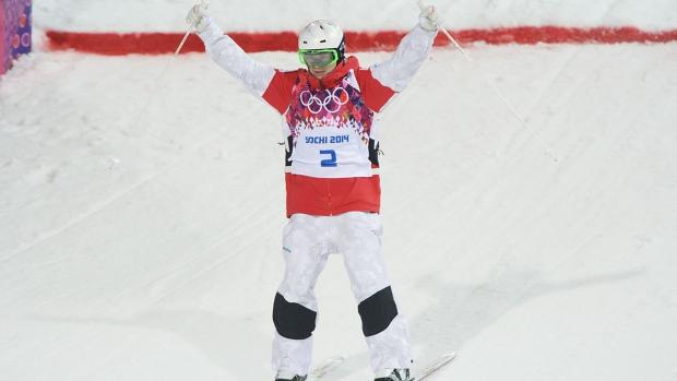 Mikael Kingsbury of Canada skis in Sochi