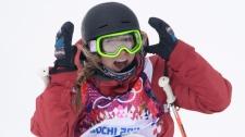 Canada's Dara Howell celebrates in Sochi
