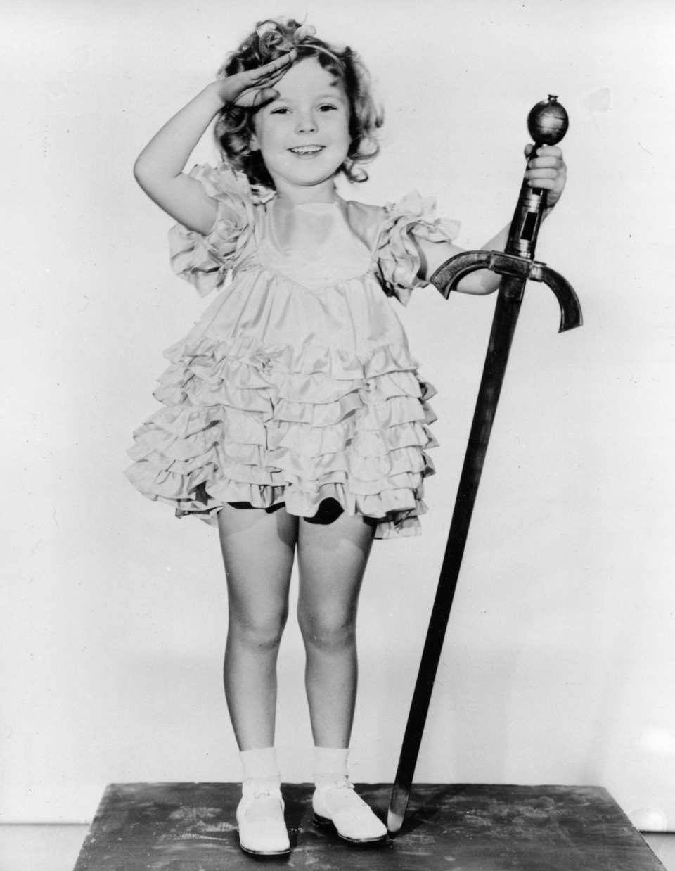 Child actress Shirley Temple is seen in her role as 'Little Miss Marker' in 1933. (AP)