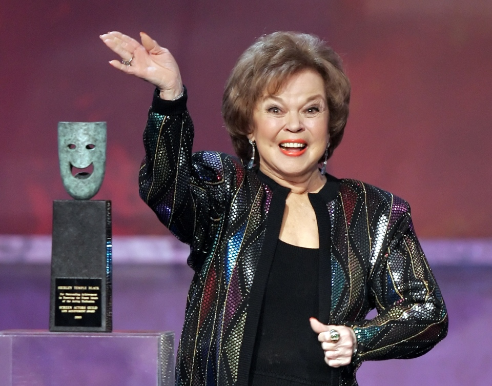 Shirley Temple Black accepts the Screen Actors Guild Awards life achievement award at the 12th Annual Screen Actors Guild Awards, in Los Angeles, Jan. 29, 2006. (AP / Mark J. Terrill)