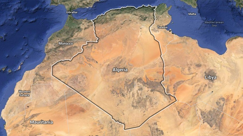 Map of Algeria (Google)