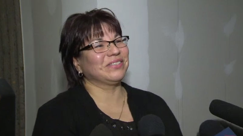 Andrea Paul, chief of the Pictou Landing First Nation, alleges Christopher George Prosper posted abusive and obscene comments about her and her family on Facebook last year. (CTV Atlantic)