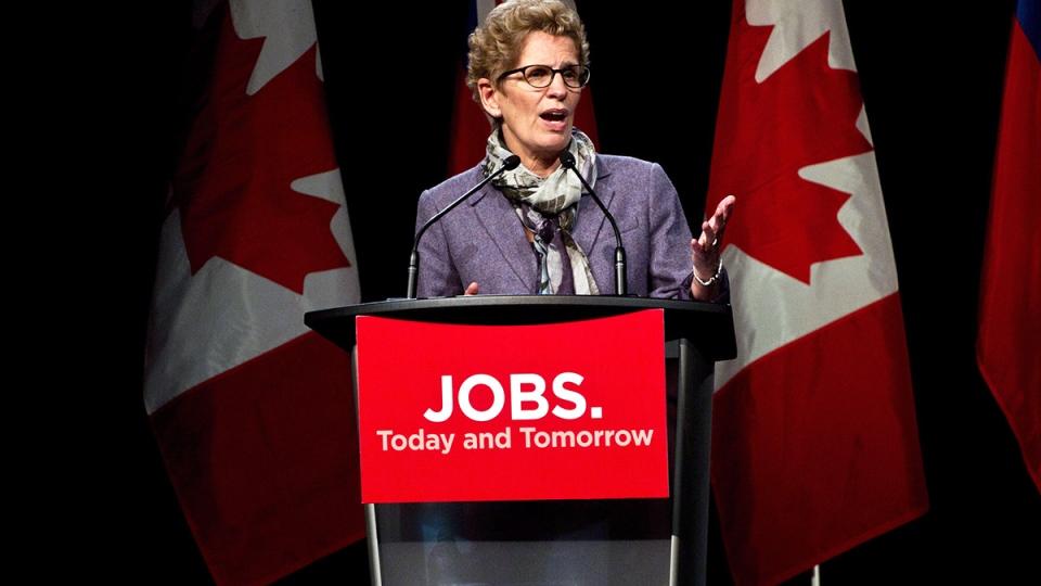Ontario Premier Kathleen Wynne speaks in Port Hope
