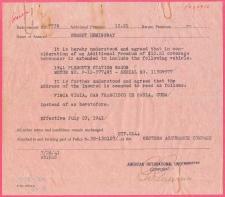 Ernest Hemingway document