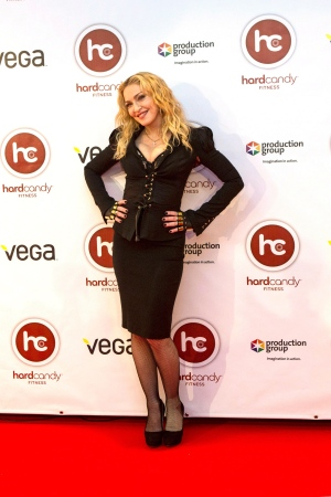 Madonna attends Toronto gym opening