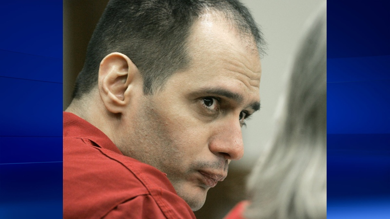 Death row inmate Juan Carlos Chavez is shown during the first day of hearings at a Miami-Dade County courtroom in Miami on Tuesday, Jan. 9, 2007. (AP / Alan Diaz)