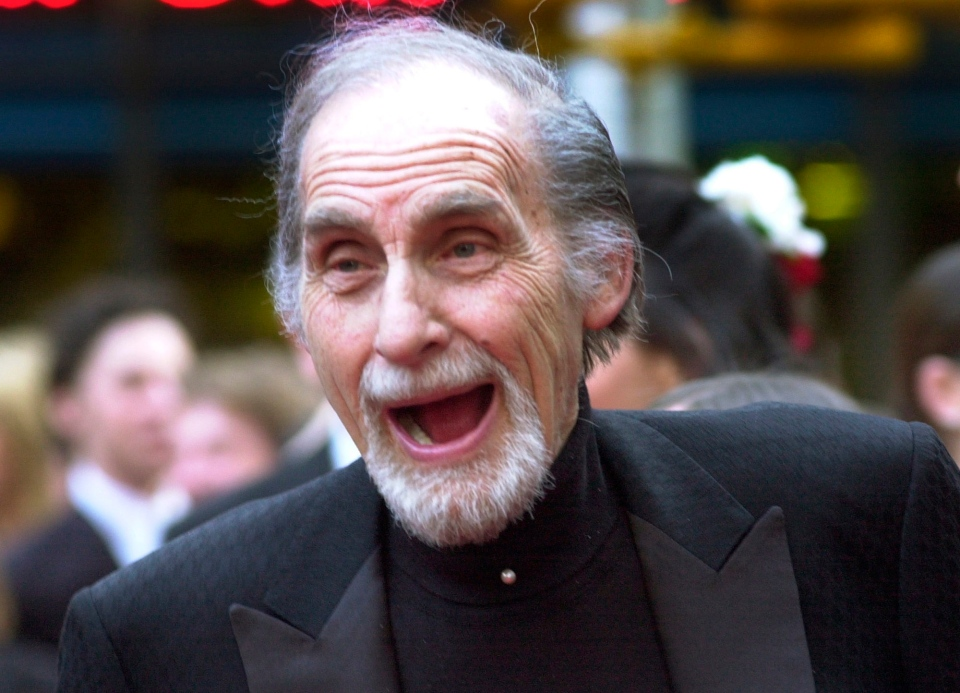 Sid Caesar arrives at a NBC's 75th anniversary celebration in New York in this 2002 file photo. (AP Photo/Ron Frehm)