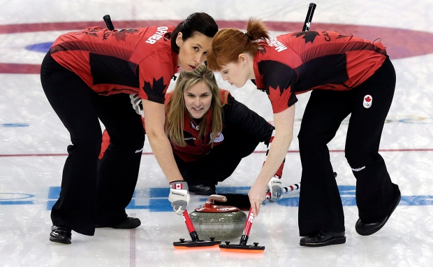 Canadian curling team beats Denmark