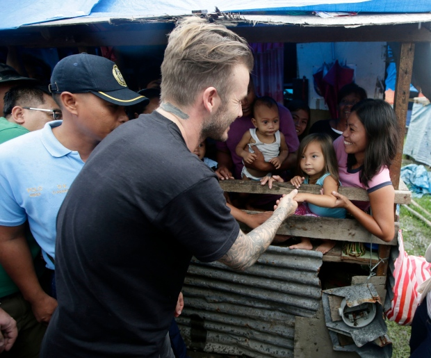David Beckham visits the Philippines