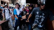 Student demonstrator shot in Caracas, Venezuela