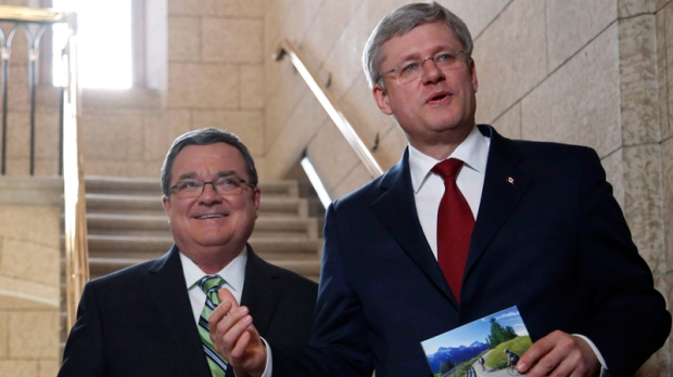 Jim Flaherty and Stephen Harper in Ottawa