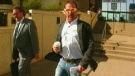 A well-known American hunter, Jeff Foiles, leaves the Edmonton courthouse on Sept. 14, 2011.