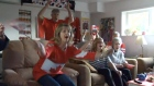 Extended: Benn's family reacts to Norway goal