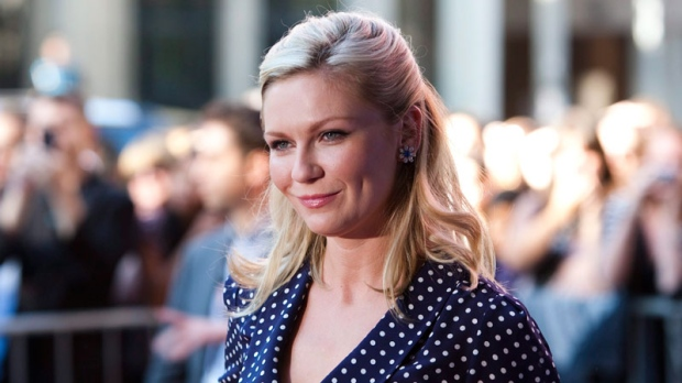 Actress Kirsten Dunst arrives at the gala for the film 'Melancholia' at the Toronto International Film Festival in Toronto Saturday, September 10, 2011. (Darren Calabrese / THE CANADIAN PRESS)