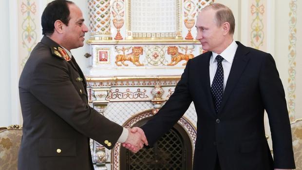 Vladimir Putin meets Egypt's Abdel-Fattah el-Sissi