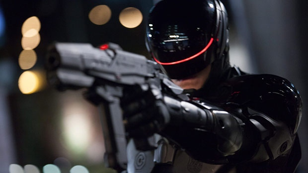 Joel Kinnaman in a scene from Sony Pictures Canada's 'RoboCop'