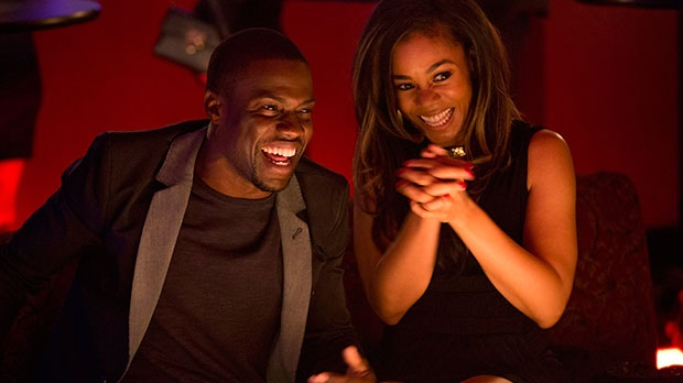 Kevin Hart, left, and Regina Hall in a scene from Sony Pictures Canada's 'About Last Night'
