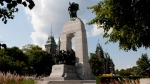 The National War Memorial is pictured in Ottawa.