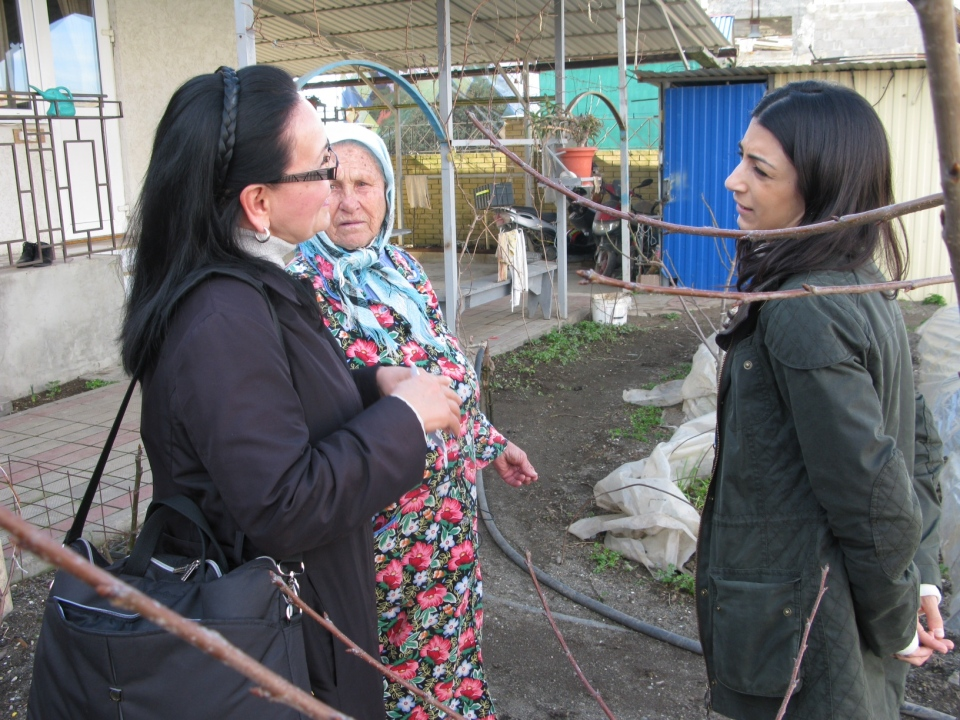 CTV's Daniele Hamamdjian speaks to 81-year-old Yevdokia Zhukova through an interpreter in Sochi on Thursday, Feb. 13, 2014.